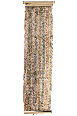 CAROLINA BUCCI 18kt Gelbgoldarmband im Web-Design