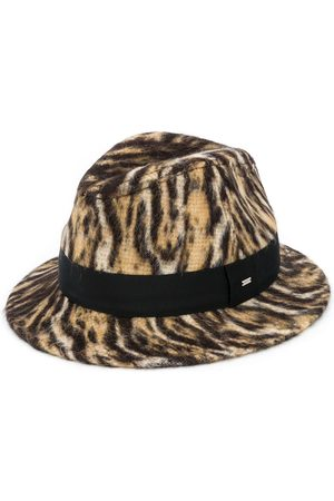 Saint Laurent Ocelot-print fedora hat