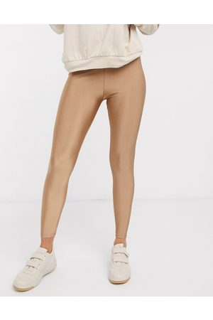 ASOS Damen Leggings & Treggings - – Disco-Leggings in Hellbraun
