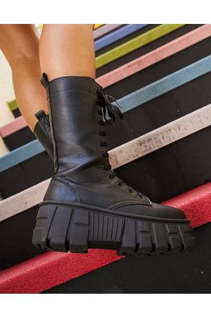 ASOS – Athens 2 – Hohe chunky Schnürstiefel in