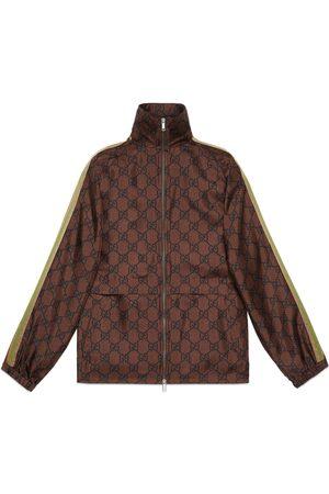 Gucci Jacke aus Seide mit Reißverschluss und GG Print