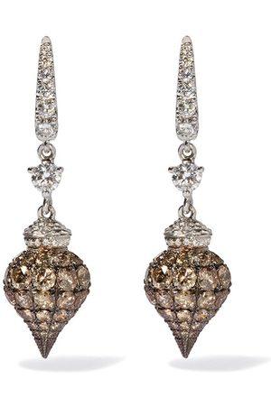 ANNOUSHKA 18kt 'Touch Wood' Weißgoldohrringe mit Diamanten