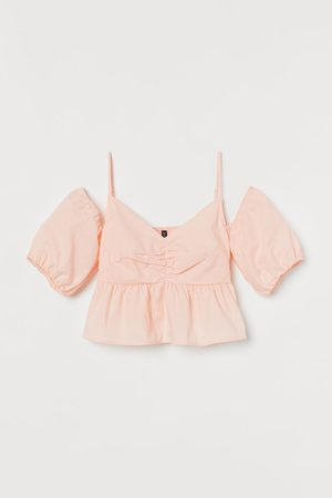 H&M Cold-Shoulder-Bluse