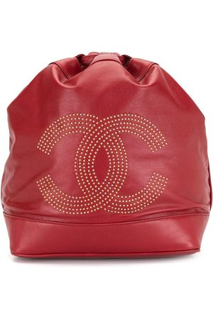 CHANEL 1992 CC studded drawstring backpack