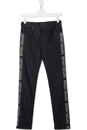 Emporio Armani Jungen Cropped - TEEN side logo jeans