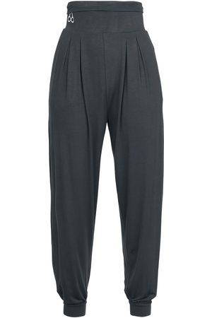 RED by EMP Sport und Yoga - graue Stoffhose mit hohem Bund Leggings dunkelgrau