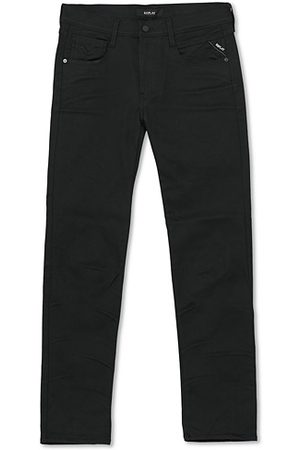 Replay Herren Cropped - Anbass Hyperflex Reused Jeans Black