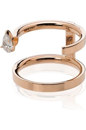 Repossi Damen Ringe - 18kt 'Serti Sur Vide' Rotgoldring mit Diamanten