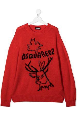 Dsquared2 Jungen Strickpullover - TEEN Pullover mit Rentier