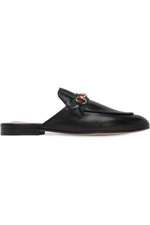 """Gucci Damen Clogs & Pantoletten - 10mm Hohe Mules """"princetown"""""""