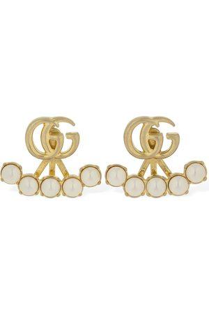 "Gucci Perlenimitat-ohrringe ""gg Marmont"""