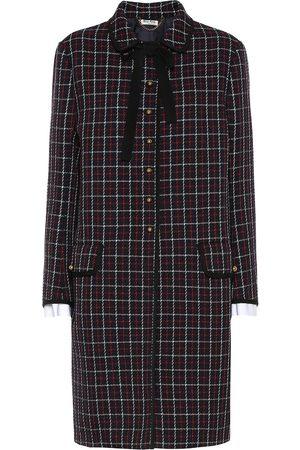 Miu Miu Karierter Mantel aus Wolle