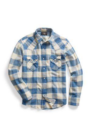 RRL Kariertes Slim-Fit-Westernhemd aus Twill