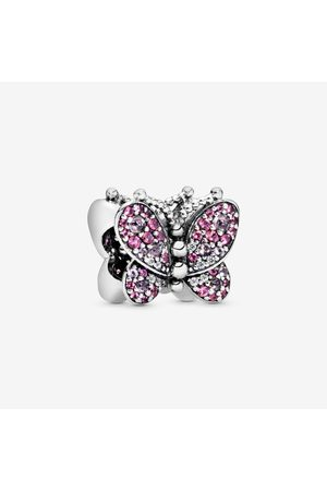 PANDORA Rosafarbenes Pavé-Schmetterling-Charm
