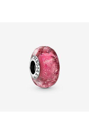 PANDORA Wellenförmiges lachsfarbenes Murano-Glas Charm