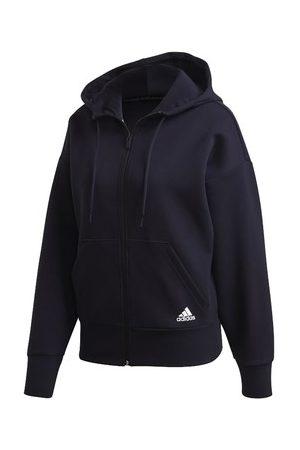 adidas Sweatshirt W 3S DK FZ S GIACCHETTO CON CAPPUCCIO NERO