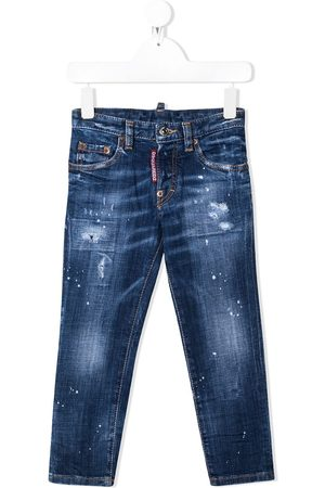 Dsquared2 Kids Icon' Skinny-Jeans in Distressed-Optik