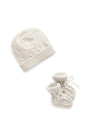 Ralph Lauren Mütze und Babyschuhe aus Kaschmir