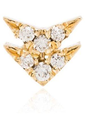 Lizzie Mandler Damen Ohrringe - 18kt Gelbgoldcreole mit einem Diamanten