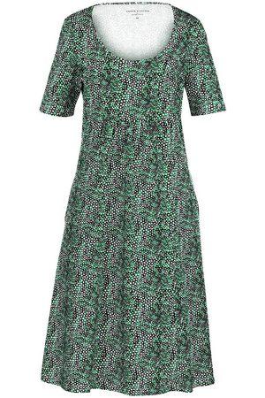 Green Cotton Kleid 1/2-Arm aus 100% Baumwolle