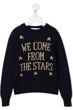 Alberta Ferretti Kids Intarsien-Pullover mit gerippten Details