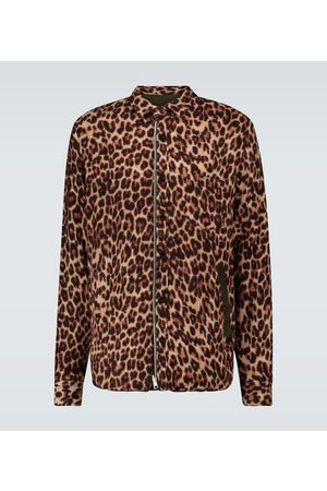 SACAI Hemdjacke Leopard Shrivel aus Wolle