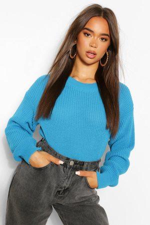 Boohoo Womens Crop-Pullover Mit Rundhalsausschnitt - - S