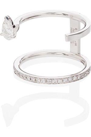 Repossi Damen Ringe - 18kt 'Serti Sur Vide' Weißgoldring mit Diamanten