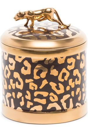 L'objet Kerze mit Leoparden-Print, 10x11cm