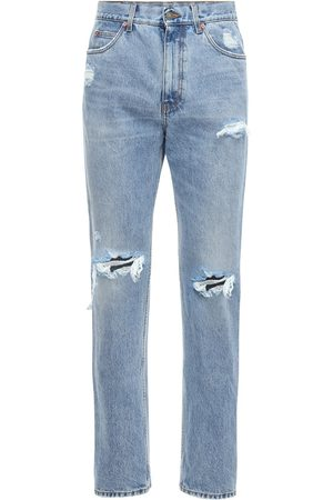 Gucci 21cm Jeans Aus Baumwolldenim Im Destroyed-look