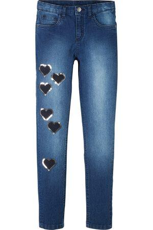 Bonprix Mädchen Skinny-Jeans mit Herzchen
