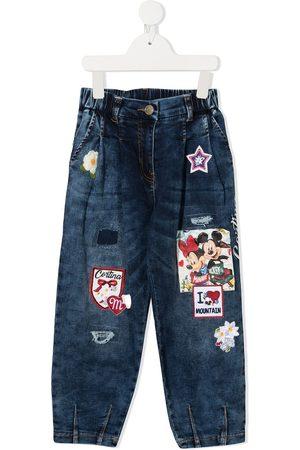Monnalisa Jeans mit hohem Bund