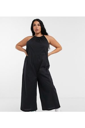Noisy May – Neckholder-Jumpsuits aus Popeline in