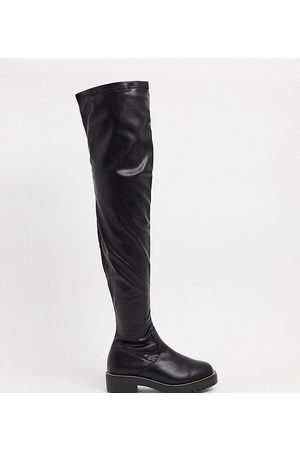 ASOS Wide Fit – Kate – Flache, kniehohe Stiefel in
