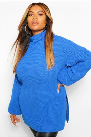 Boohoo Womens Plus Pullover Mit Seitenschlitz Und Rollkragen - - 42