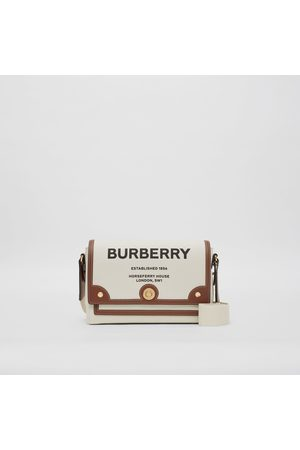 "Burberry Damen Clutches - Crossbody-Tasche Note"" aus Canvas mit Horseferry-Aufdruck, Brown"