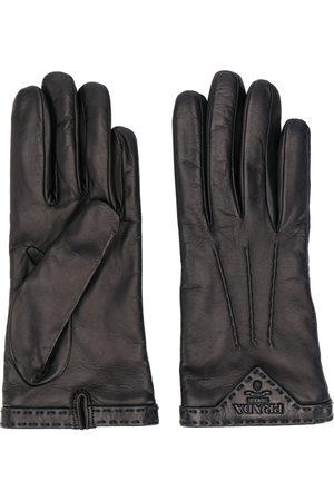Prada Handschuhe mit Logo-Schild