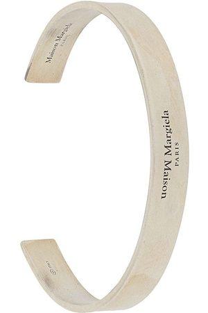 Maison Margiela Engraved-logo cuff bracelet