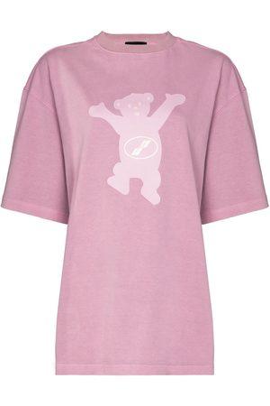 We11 Done T-Shirt mit Teddy-Print