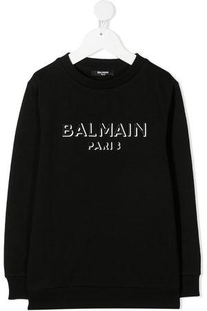 Balmain Sweatshirt mit Logo-Stickerei