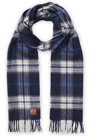 Amanda Christensen Herren Schals - Merino Wool Check Scarf Blue
