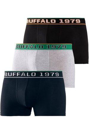 Buffalo Herren Boxershorts - Boxer (3 Stück) Webbund im College Design