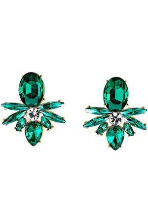 J. Jayz Paar Ohrstecker »smaragdgrün, Navette- und Tropfenschliff, glanzvoll«, mit Glassteinen