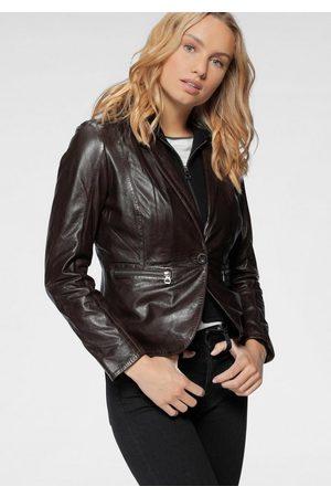 Gipsy Damen Lederjacken - Lederjacke »Amali« cooler hochwertiger Lederblazer im 2-in-1-Look mit Kapuze