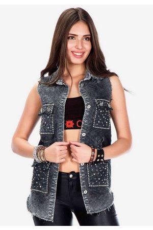 Cipo & Baxx Jeansweste im lässigen Destroyed-Look