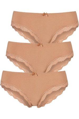 3er Damen Unterwäsche Modern Spitze Pants Baumwolle Spitzenslip Panty S M L