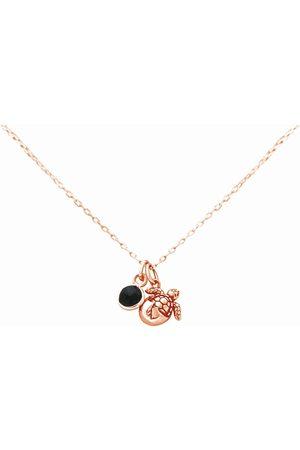 Gemshine Anhänger - Kette mit Anhänger » Maritim Nautics Halskette mit Baby Schildkröte aus 925 Silber, hochwertig vergoldet oder rose im Navy Stil mit blauem Saphir – Made in Spain«