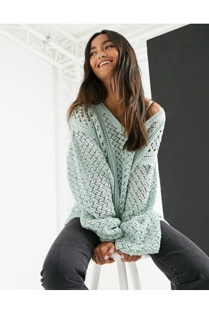 In The Style X Lorna Luxe – Grüner Strickpullover