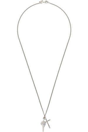 Emanuele Bicocchi Lange Halskette mit Kreuzanhänger