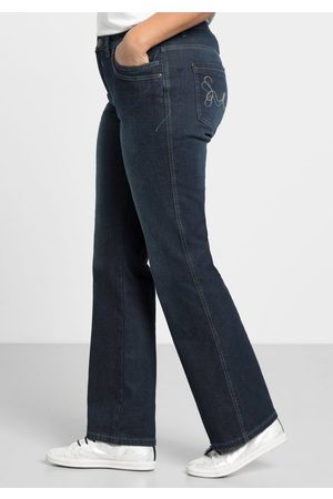 Sheego Bootcut-Stretch-Jeans MAILA, dark blue Denim, Gr.44